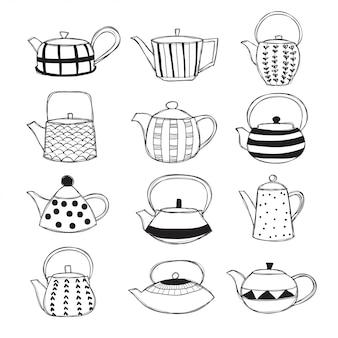 Zestaw dzbanków do herbaty