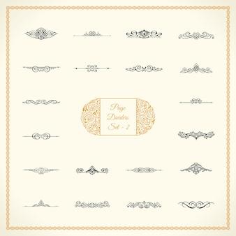 Zestaw dzielników kaligraficznych stron