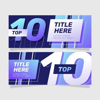 Zestaw dziesięciu najlepszych banerów rankingowych