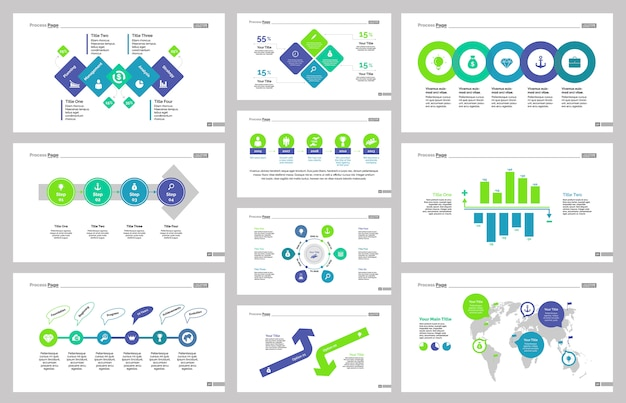 Zestaw dziesięciu szablonów zarządzania