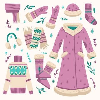Zestaw dziewczęcych ubrań zimowych
