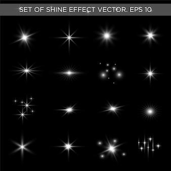 Zestaw efekt blasku gwiazd