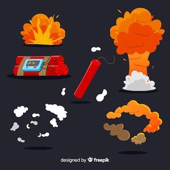 Zestaw efektów wybuchu bomby