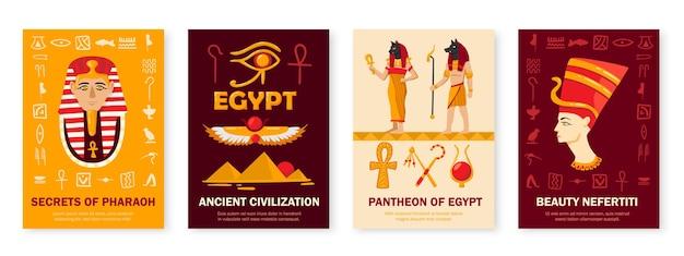 Zestaw egipskich ilustracji
