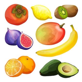 Zestaw egzotycznych owoców