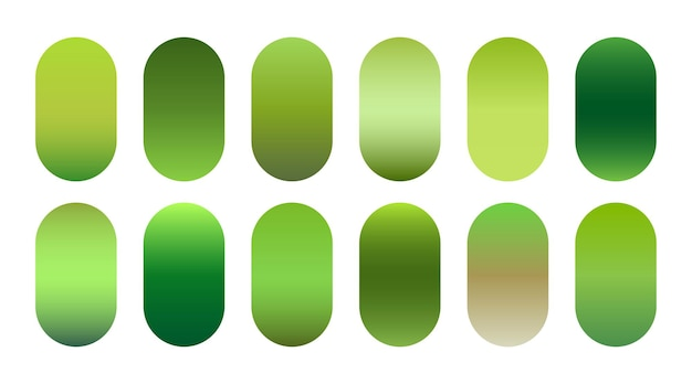 Zestaw ekologicznych zielonych odcieni gradientu nature