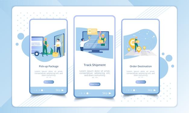 Zestaw ekranu dołączającego do procesu usługi dostawy