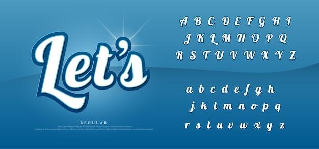 Zestaw elegancki alfabet wektor zestaw.