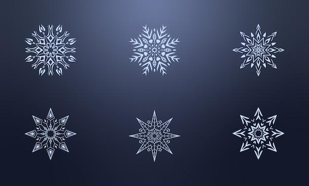 Zestaw elegancki płatek śniegu