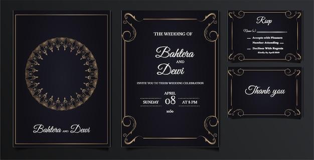 Zestaw elegancki zaproszenia ślubne