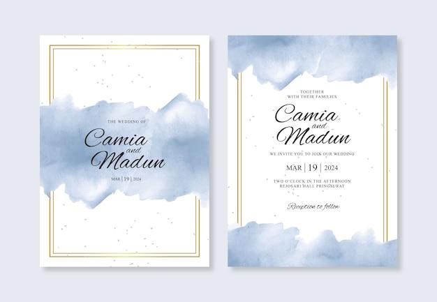 Zestaw eleganckich zaproszeń ślubnych