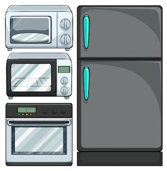 Zestaw elektrycznych urządzeń w kuchni