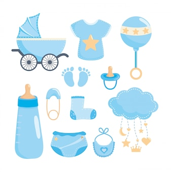 Zestaw elementów baby shower