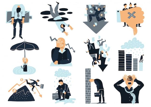 Zestaw elementów biznesowych niepowodzenia