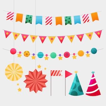 Zestaw elementów dekoracji urodziny
