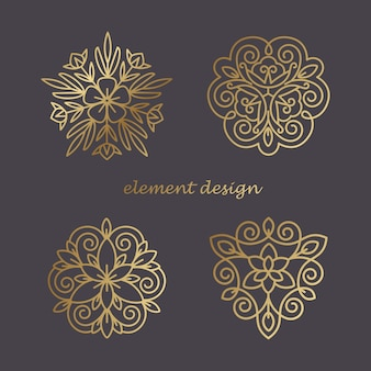 Zestaw elementów dekoracyjnych.