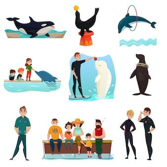 Zestaw elementów delfinarium