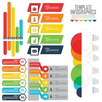 Zestaw elementów do infografika