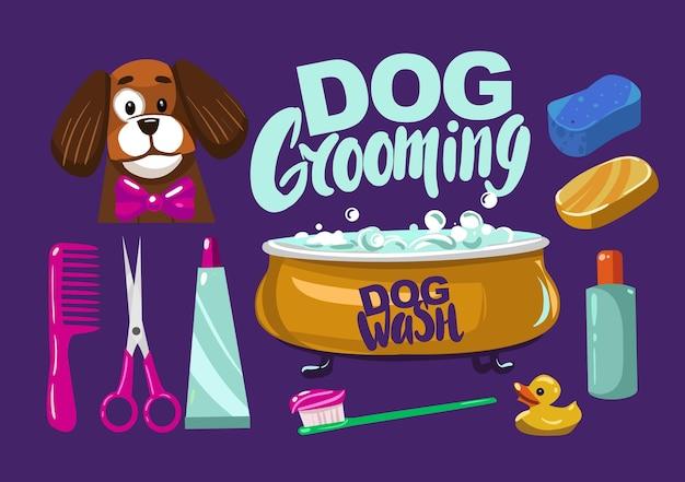 Zestaw elementów do pielęgnacji psów