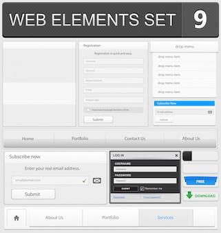 Zestaw elementów do projektowania stron internetowych