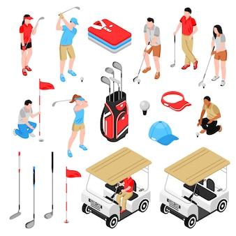 Zestaw elementów golfowych