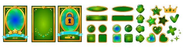 Zestaw elementów gry mobilnej