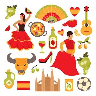 Zestaw elementów hiszpanii