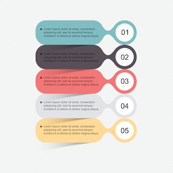Zestaw elementów infografiki w stylu nowoczesnego biznesu płaskiego.