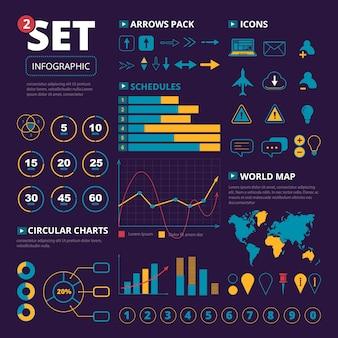 Zestaw elementów infografiki