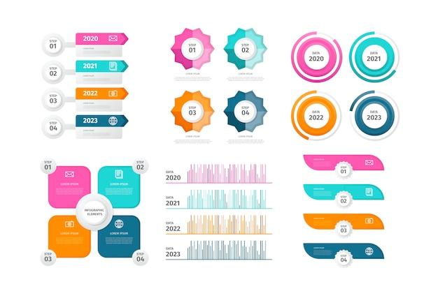 Zestaw elementów infographic