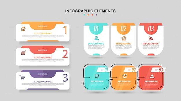Zestaw elementów infographic.