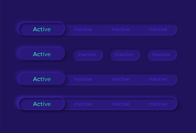 Zestaw elementów interfejsu użytkownika przełączników
