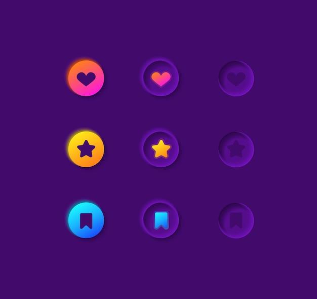 Zestaw elementów interfejsu użytkownika takich jak przyciski