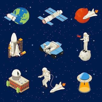 Zestaw elementów izometrycznej przestrzeni
