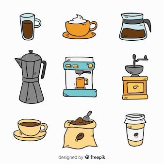 Zestaw elementów kawy
