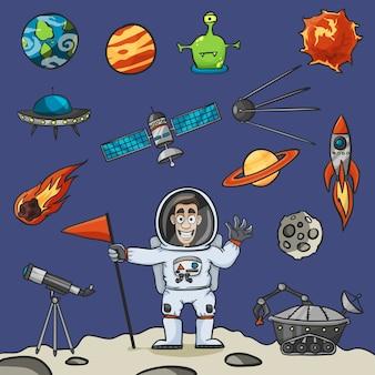 Zestaw elementów kosmicznych