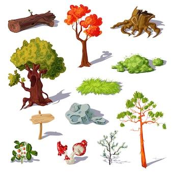 Zestaw elementów lasu
