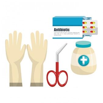Zestaw elementów medycznych