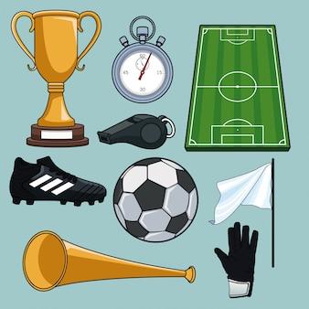 Zestaw elementów piłkarskich kolekcji