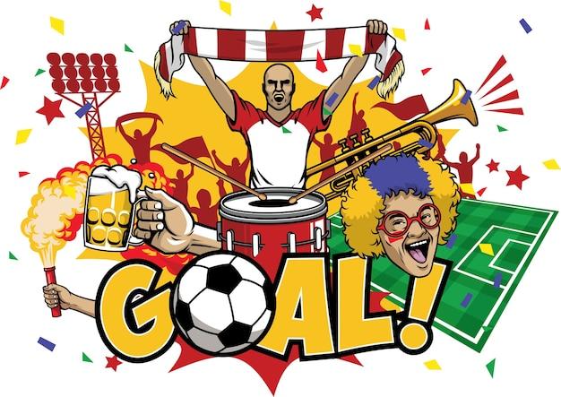 Zestaw elementów piłki nożnej