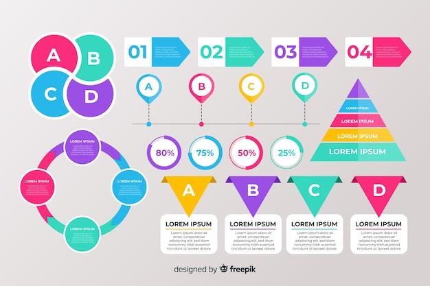Zestaw elementów płaskich infographic