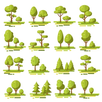 Zestaw elementów płaskich lasu