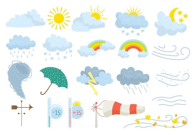 Zestaw elementów pogody