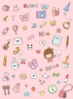 Zestaw elementów prezent dla dziewczynki