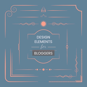 Zestaw elementów projektu dla blogerów wektorowych