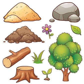 Zestaw elementów przyrody