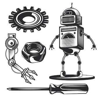Zestaw elementów robota