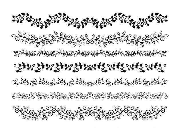 Zestaw elementów rysowane ręcznie granic