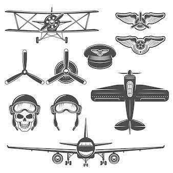 Zestaw elementów samolotu