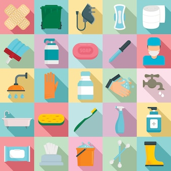 Zestaw elementów sanitarnych, płaski